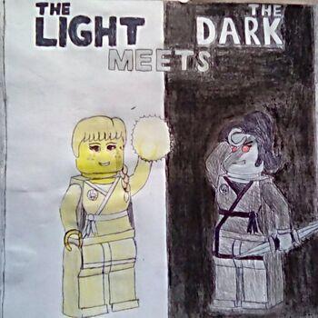 The light meets the dark cover poster by purplebird333-db3d0lq