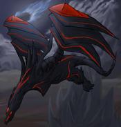 Red Eyes Darkness Dragon by Maplefur
