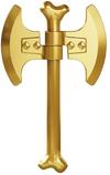 Goldendoublebladedboneaxe