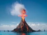 Логово Гармадона в жерле вулкана