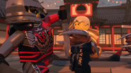 Ninjago Hands of Time - Young Wu blocks the attack of Acronix