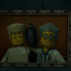 <b>Una foto de Zane y su padre</b>
