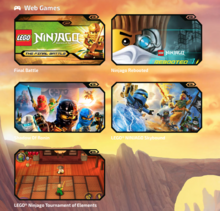 Various Webgames from the Lego website