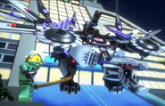 Lloyd and Nindroid MechDragon in Promo Animation
