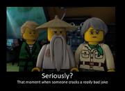 Ninjago bad joke spoof