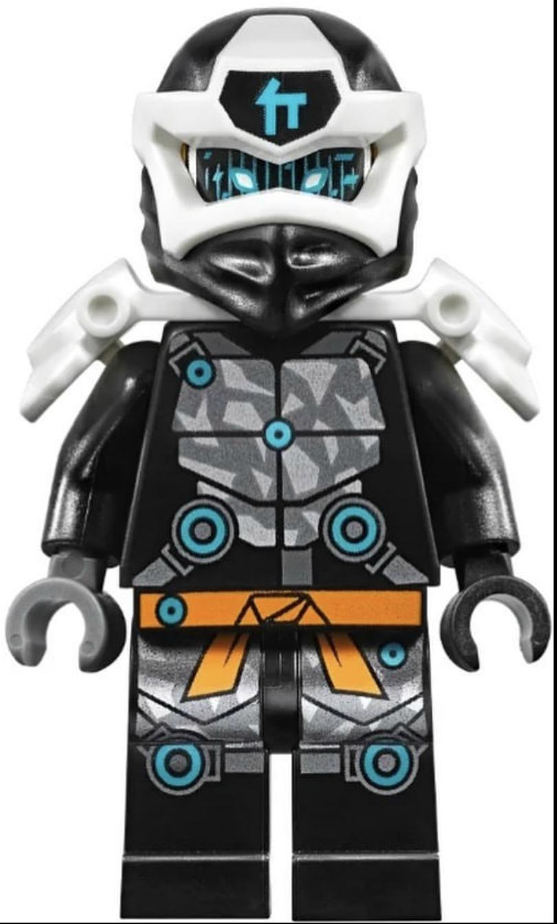 Ninjago Boy Zane Crew Cut Gray Head Gear NEW Lego Minifig Flat Top SILVER HAIR