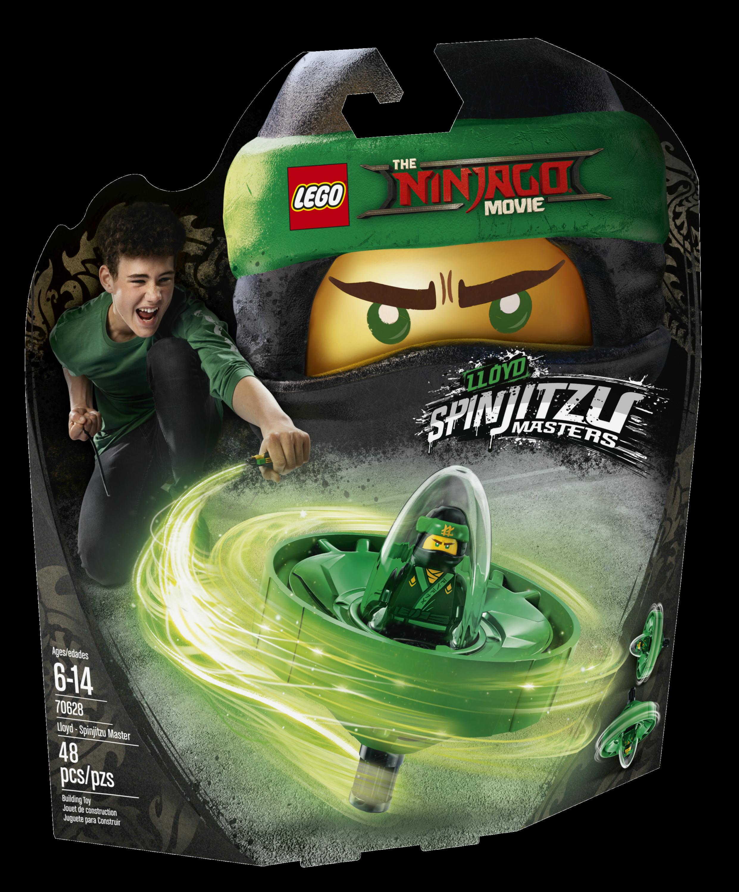 LEGO 70628 Lloyd Spinjitzu Master the Ninjago Movie green ninja spinner