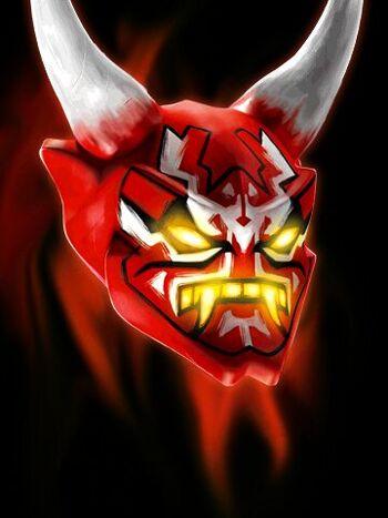 oni mask of vengeance - Ninjago Rouge
