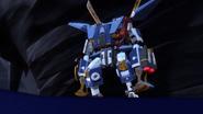 Робот Самурая X в пещере