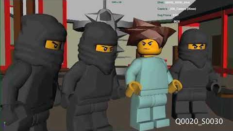Ninjago pilot 2011 - early 3d blocking