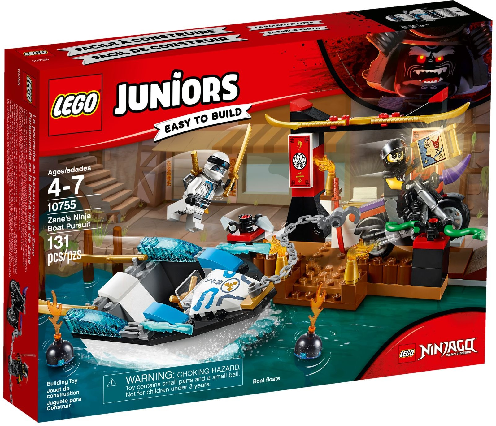 10755 zane 39 s ninja boat pursuit ninjago wiki fandom powered by wikia - Ninja ninjago ...