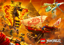 Ninjago Secrets of The Forbidden Spinjitzu Pyro Vipers Poster