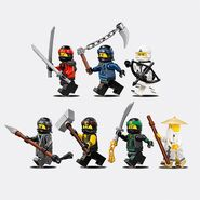 TLNMNinja Force Minifigures