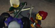 EP89 Harumi fights Lloyd and Skylor