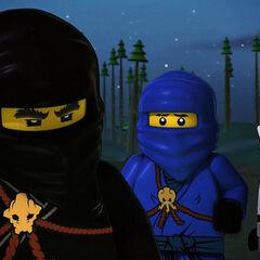 Los tres ninjas derrotados