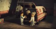 EP81 Harumi in an ambulance