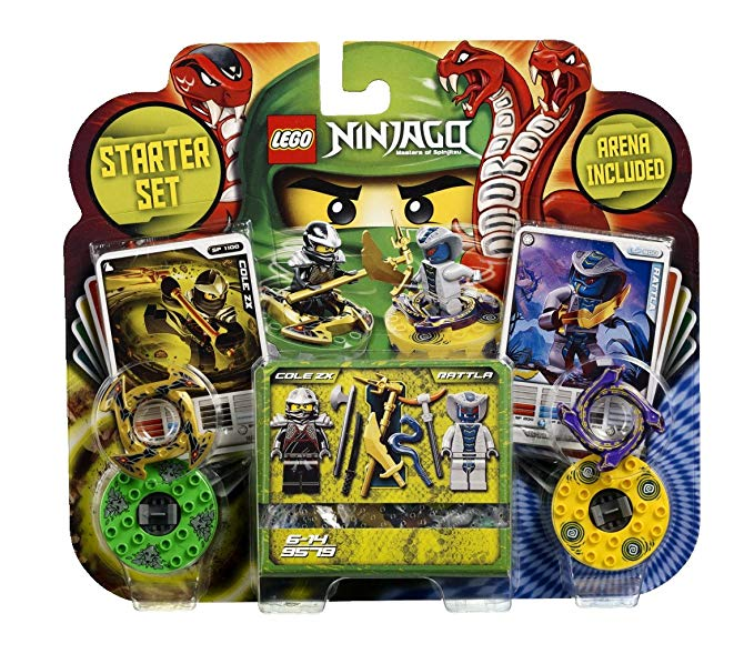 Lego 9579 With Cole ZX And Rattla Mini Figure Spinners