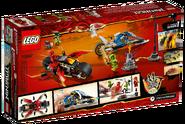 70667 Kai's Blade Cycle and Zane's Snowmobile Box Backside