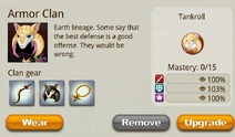 Armor Clan Info