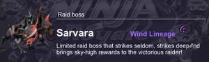Sarvara Raid Boss