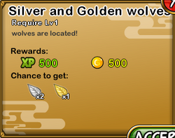 Silver and Golden wolves