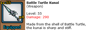 Battle Turtle Kunai