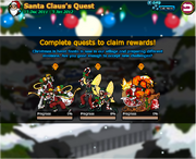 Santa Claus's Quest menu
