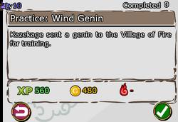 Practice - Wind Genin