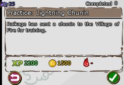 Practice - Lightning Chunin
