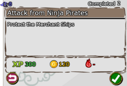 Attack from Ninja Pirates