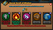 Secret Scroll of Wisdom used