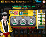 Golden Ninja Scratch Card