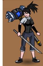 Saki with Evil Claw Hammer