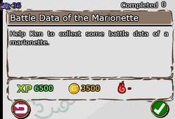 Battle Data of the Marionette