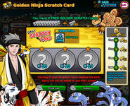 Golden Ninja Scratch Card - July 31