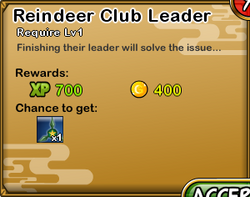 Reindeer Club Leader