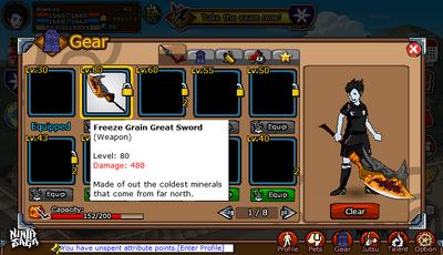 Weapon - Freeze Grain Great Sword