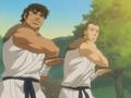 Taroza and Jiroza using shirukens.png