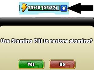 Stamina pill function