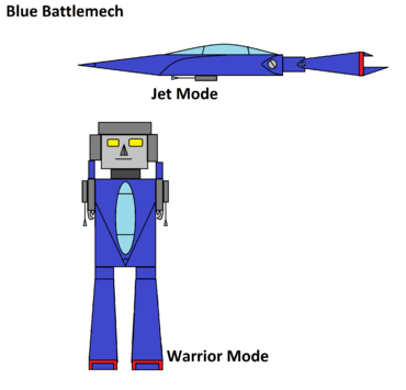 Blue Battlemech