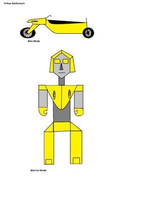 Yellow Battlemech