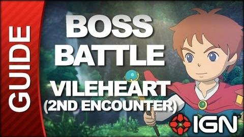 Ni No Kuni Wrath of the White Witch - Boss Battle Strategy Vileheart (Second Encounter)