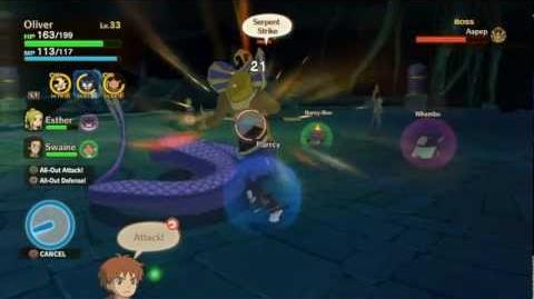 Ni No Kuni - Aapep King of Cobras (boss fight) HD