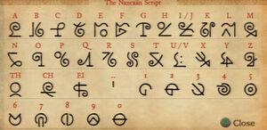 Nazcaan script