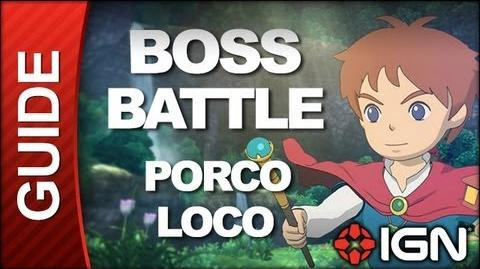 Ni No Kuni Wrath of the White Witch - Boss Battle Strategy Porco Loco