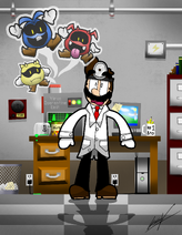 A ghostly lab accident