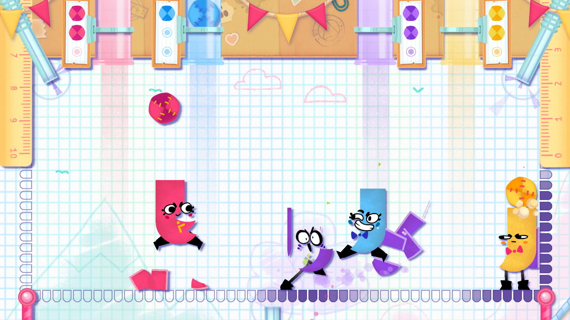 Image result for Snipperclips Plus: Cut It Out Together switch screenshot