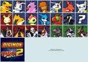 Digimon Rumble Arena 2 Charecter list