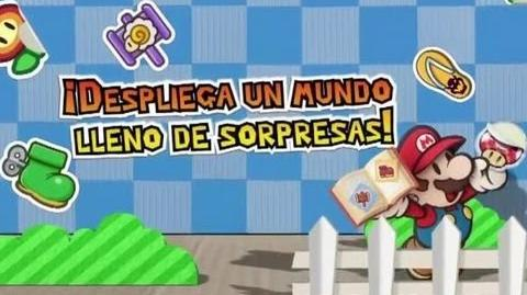 Paper Mario Sticker Star - Nintendo 3DS - Gameplay Tráiler en Español