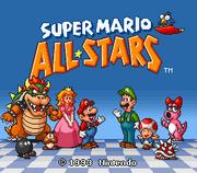 Super Mario All-Stars - Pantalla de Titulo